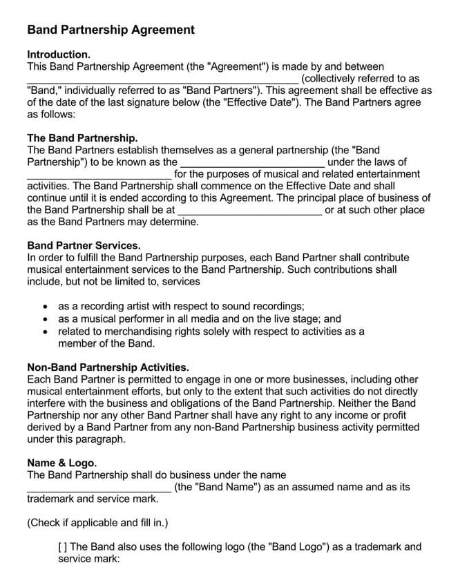 Partnership Agreement Template 20