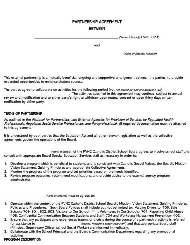 Partnership Agreement Template 21