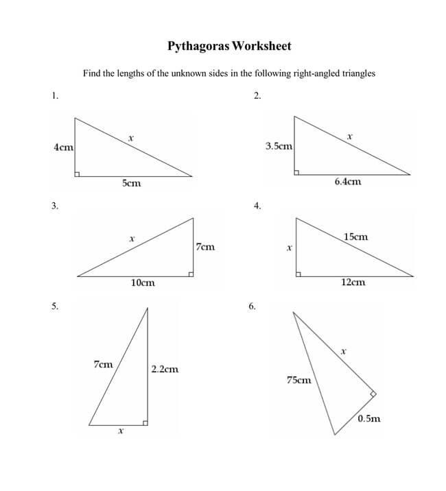 Pythagorean Theorem Worksheet 06