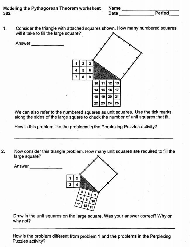 Pythagorean Theorem Worksheet 11
