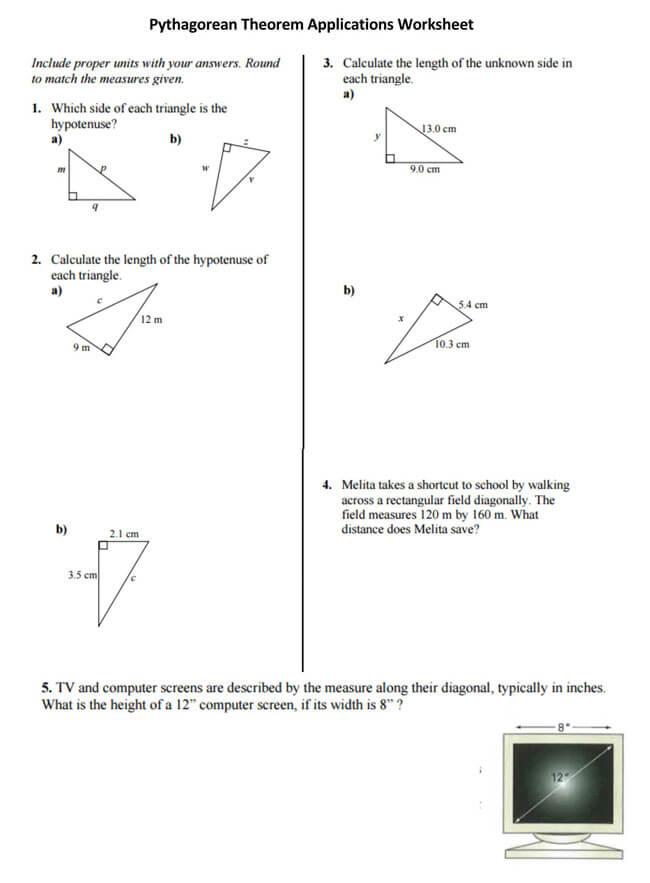 Pythagorean Theorem Worksheet 26