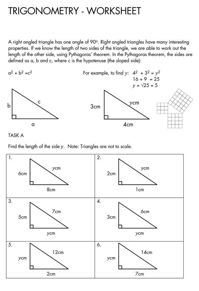 Pythagorean Theorem Worksheet 27
