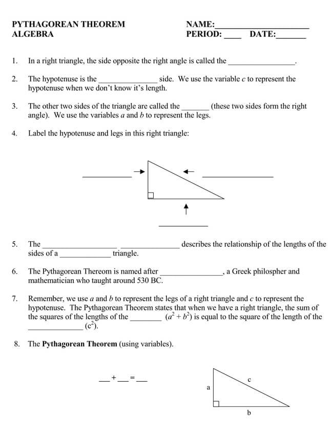 Pythagorean Theorem Worksheet 30