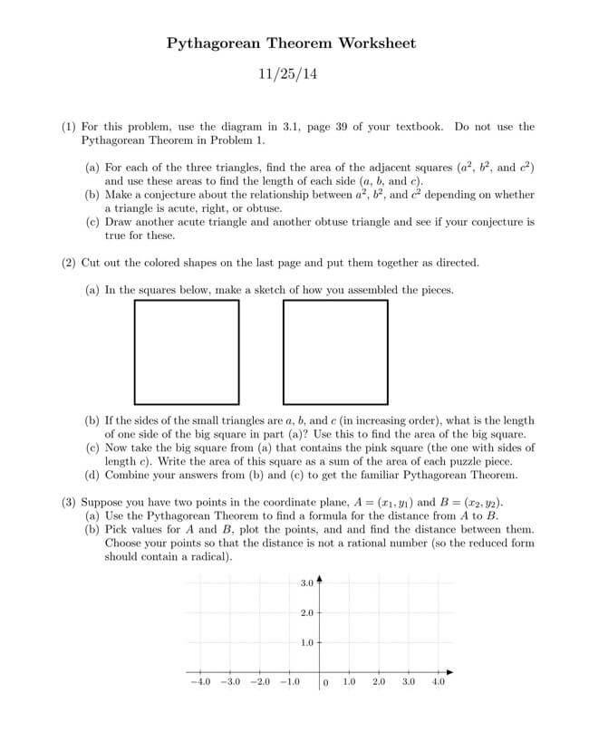 Pythagorean Theorem Worksheet 33