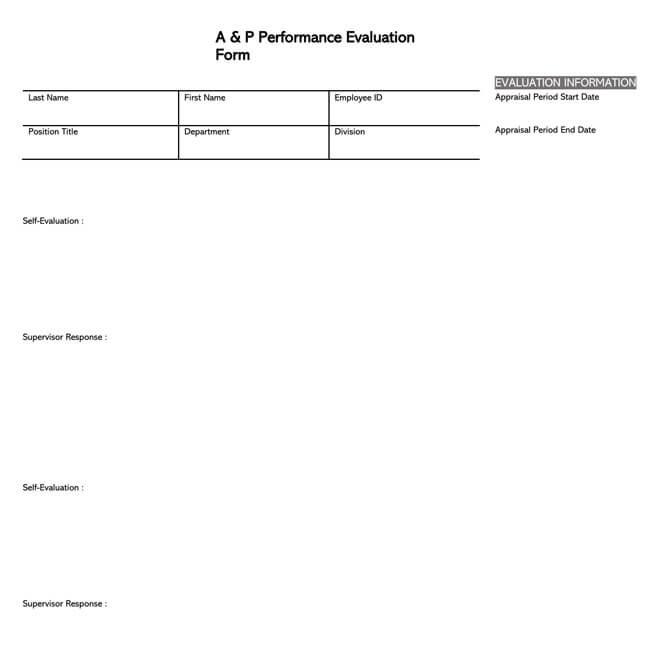 Self Evaluation Template 23