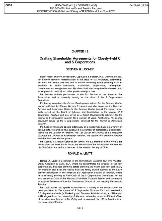 Shareholder Agreement 01