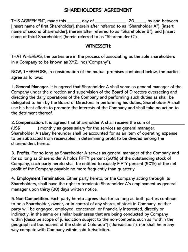 Shareholder Agreement 09