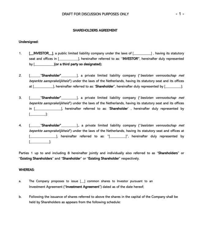 Shareholder Agreement 12