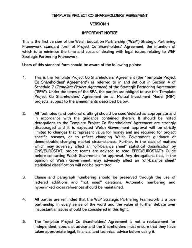 Shareholder Agreement 14
