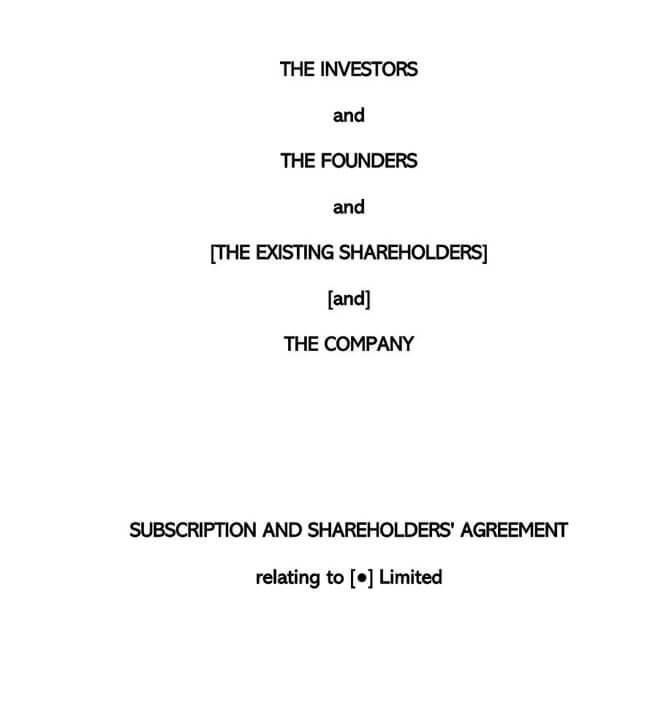 Shareholder Agreement 15