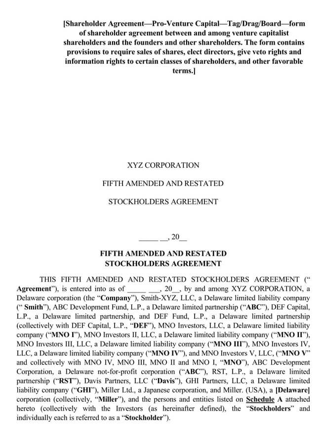 Shareholder Agreement 18