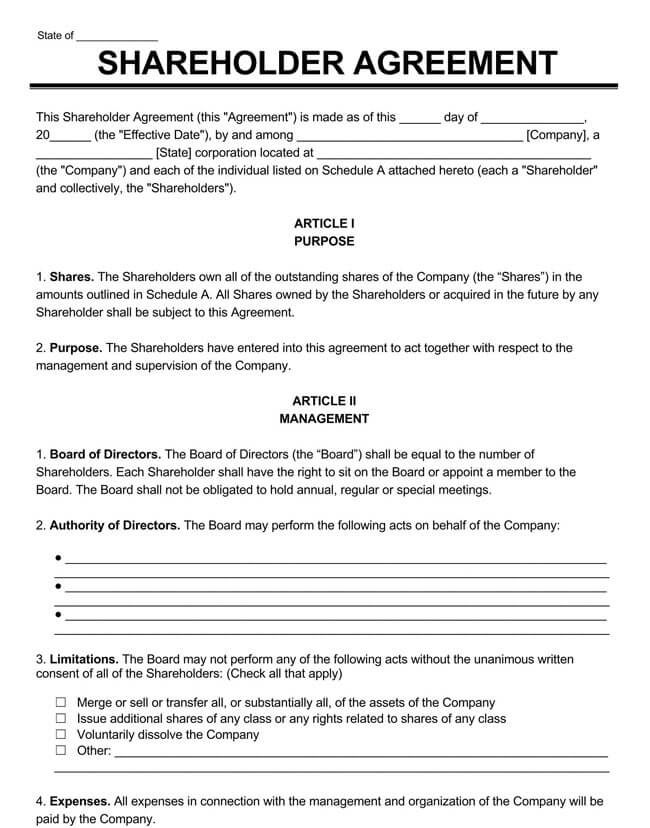 Shareholder Agreement 21
