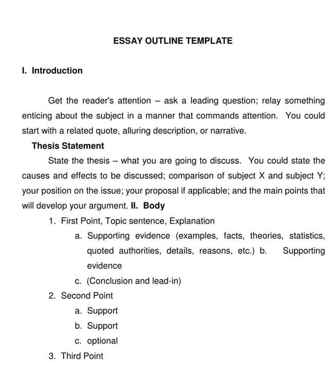 Short Essay Outline 02