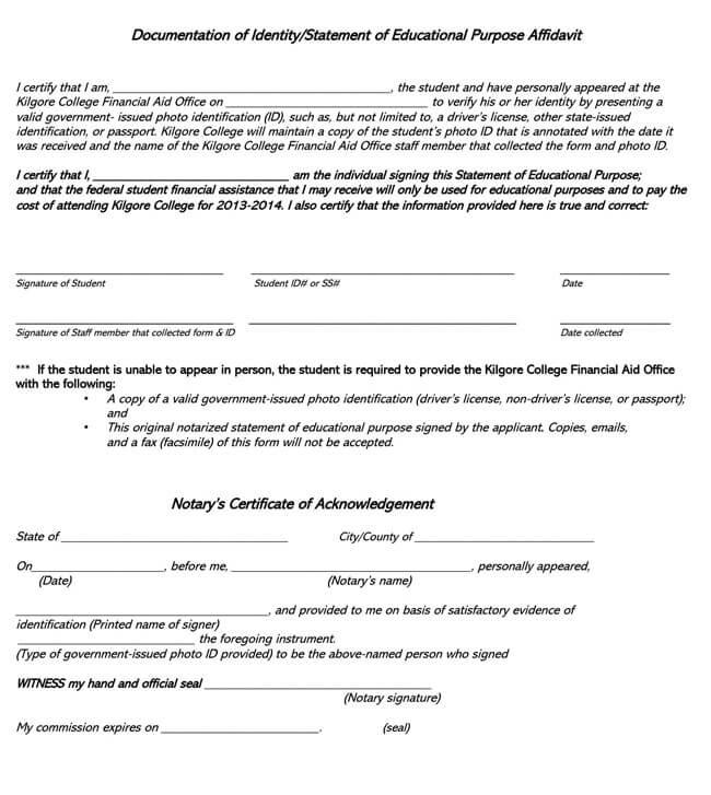 Affidavit of Identity 04