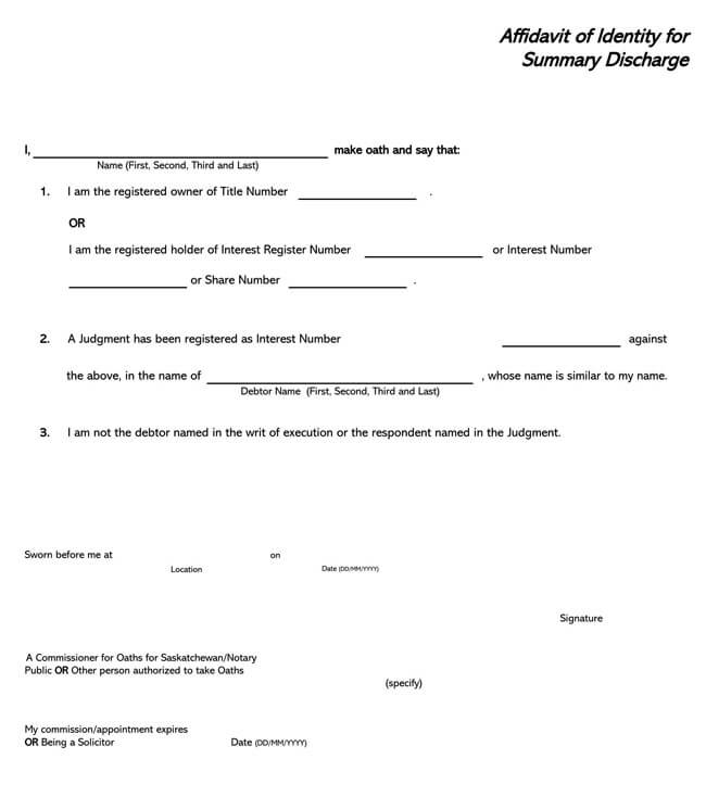 Affidavit of Identity 05