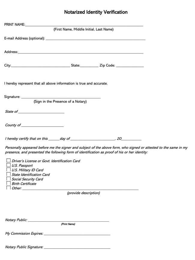 Affidavit of Identity 11