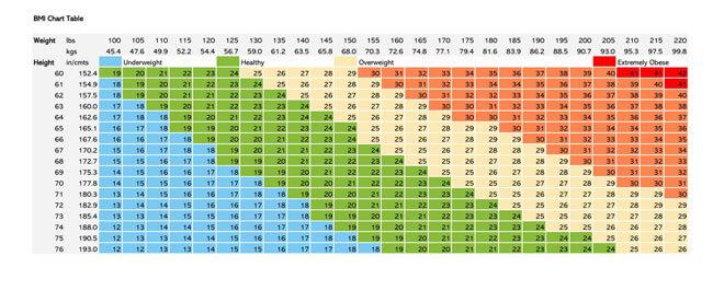 BMI Chart Template 01