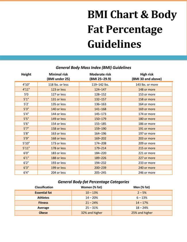 BMI Chart Template 07