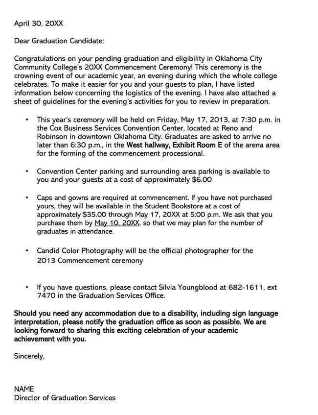 Congratulation Letter for Graduation 01