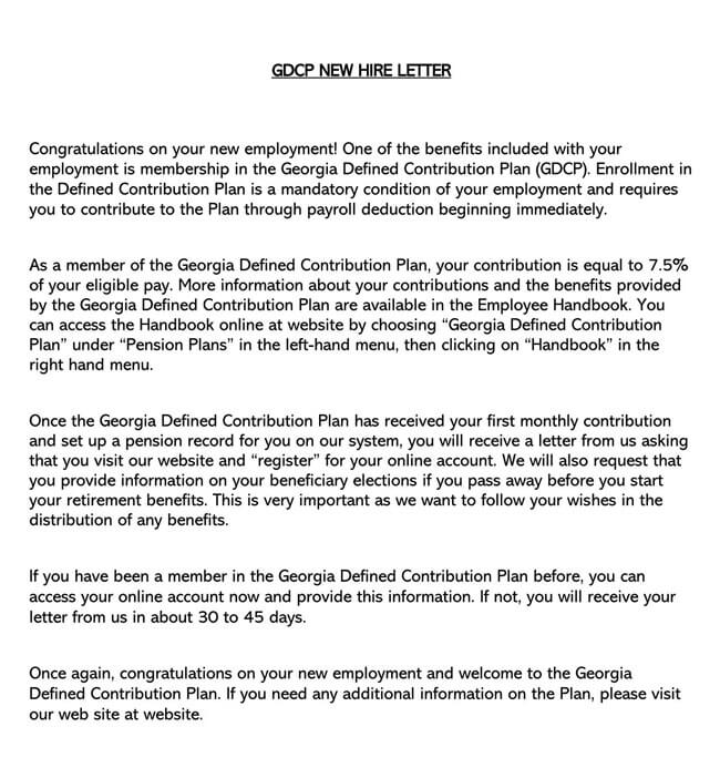 Congratulation Letter for New Employment 01
