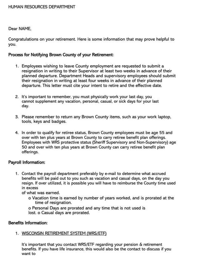 Congratulation Letter for Retirement 04