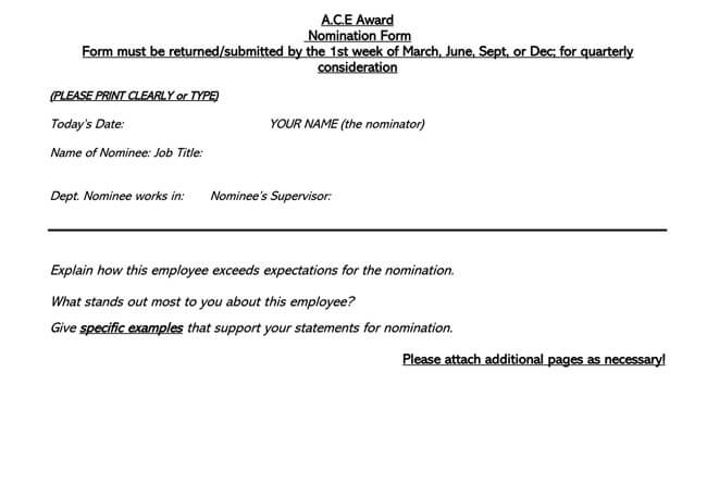 Employee of the Month Nomination Form 02