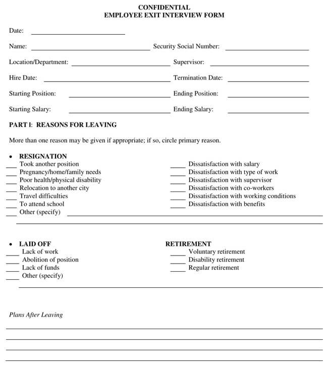 Exit Interview Template 01