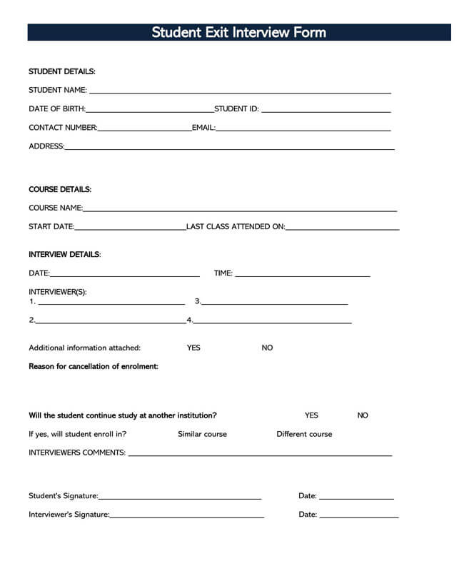 Exit Interview Template 08