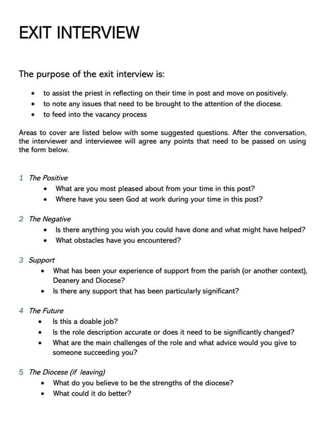 Exit Interview Template 11