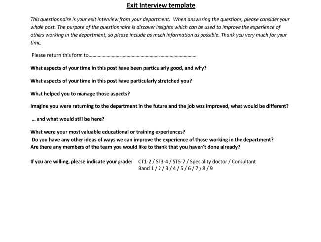 Exit Interview Template 14