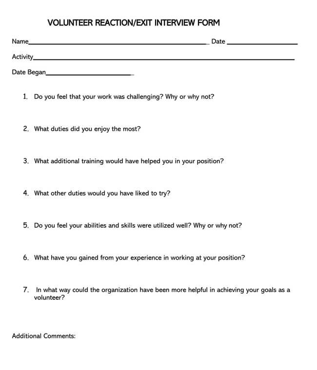 Exit Interview Template 20