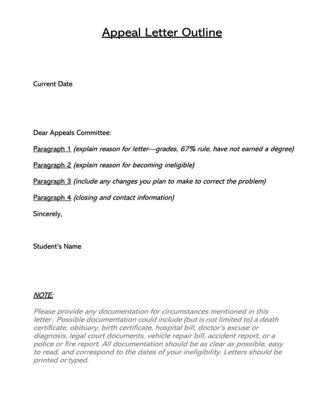 General Appeal Letter 01