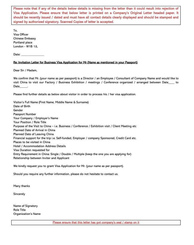 Invitation Letter 05