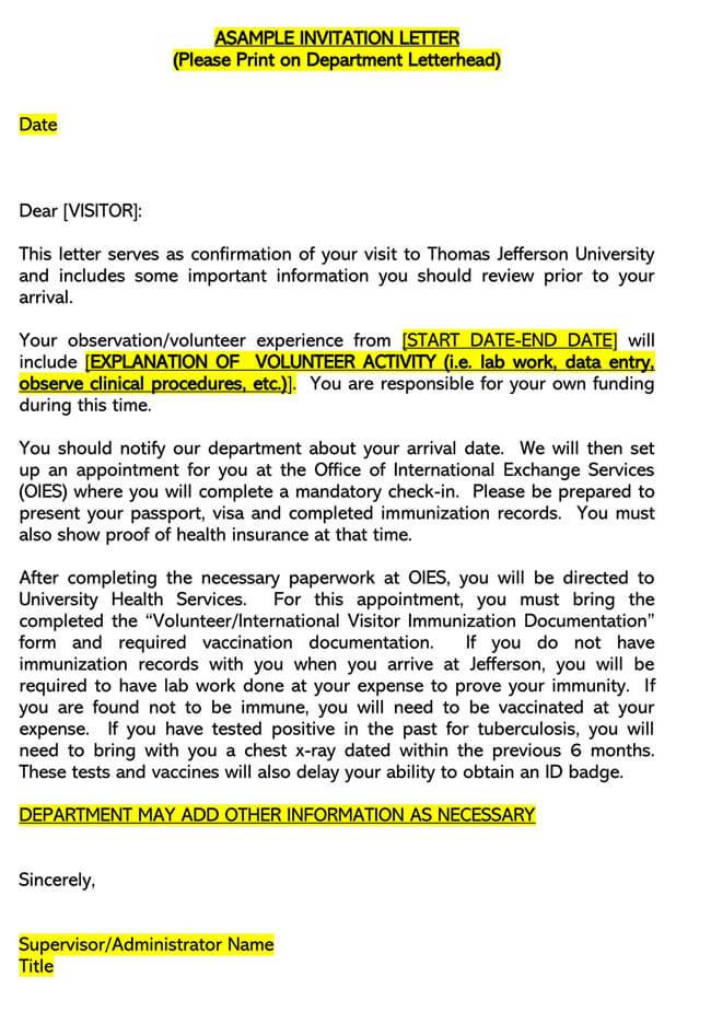 Invitation Letter 11