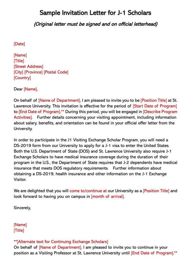 Invitation Letter 12