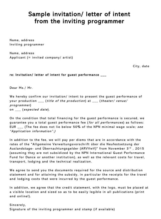 Invitation Letter 13