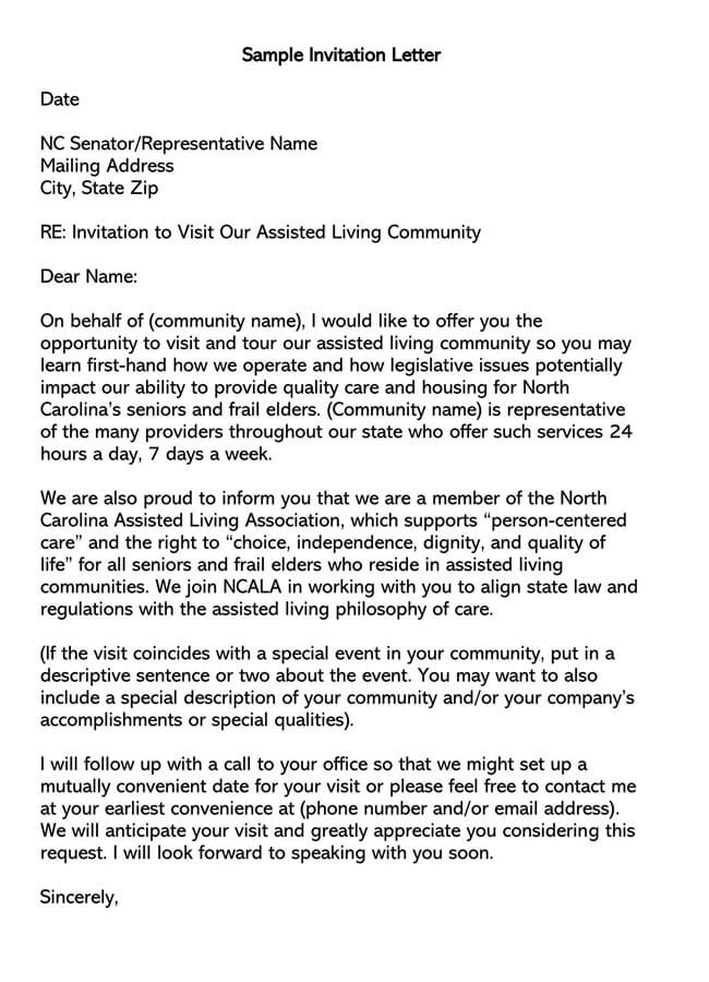 Invitation Letter 14
