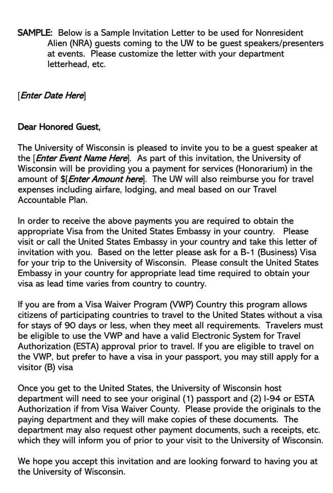 Invitation Letter 19