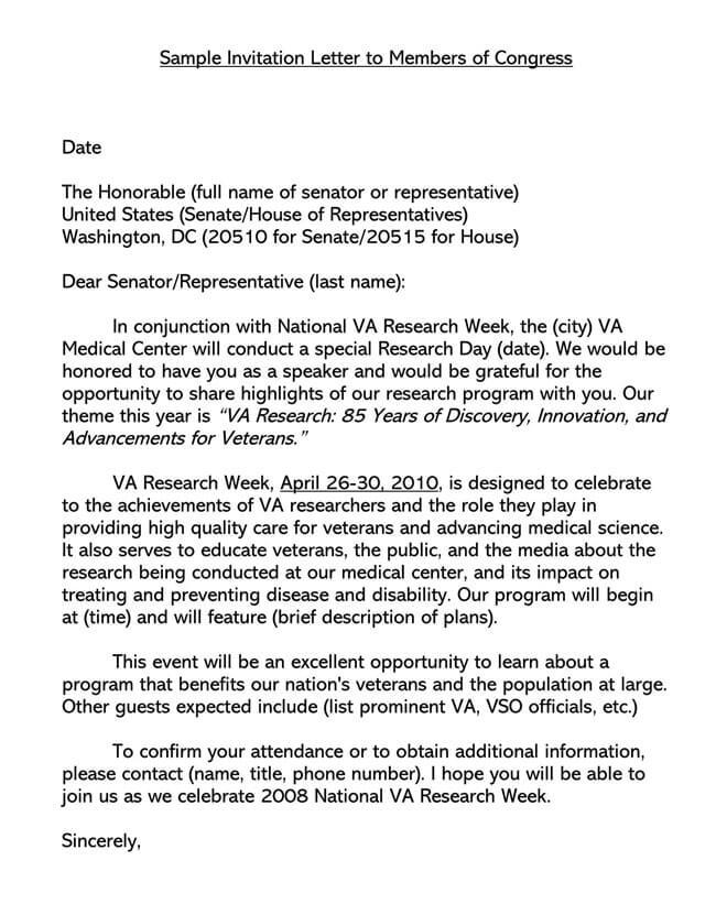 Invitation Letter 20