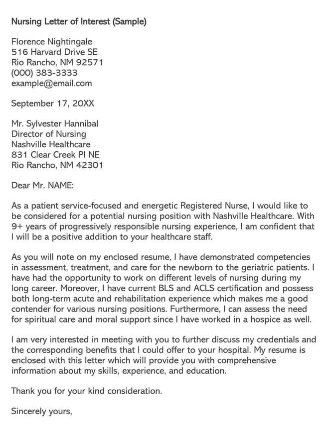 Nursing Job Letter of Intent 01
