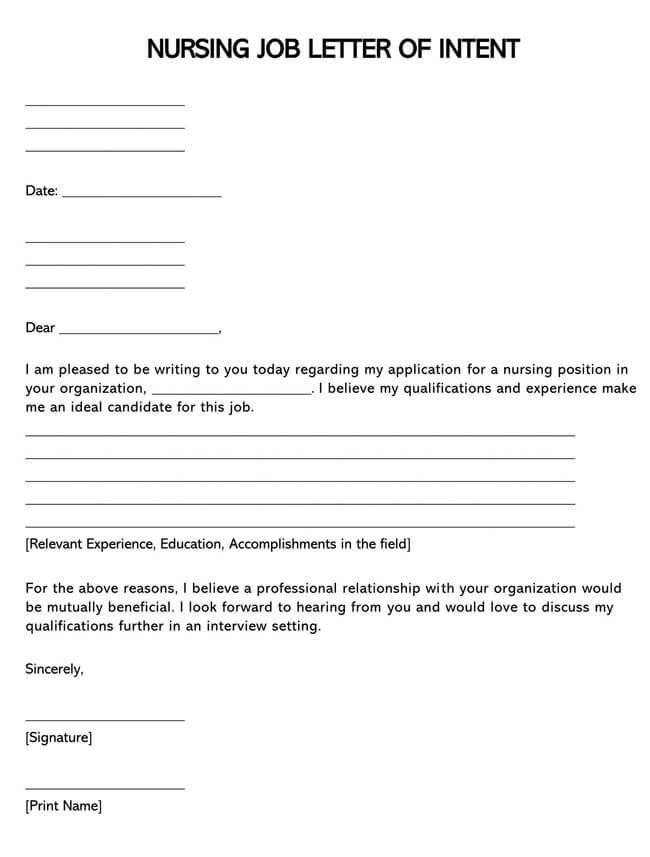 Nursing Job Letter of Intent 02