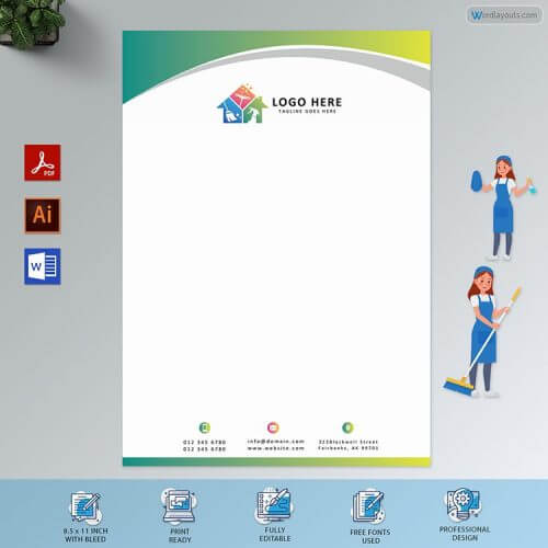Cleaning Service Letterhead