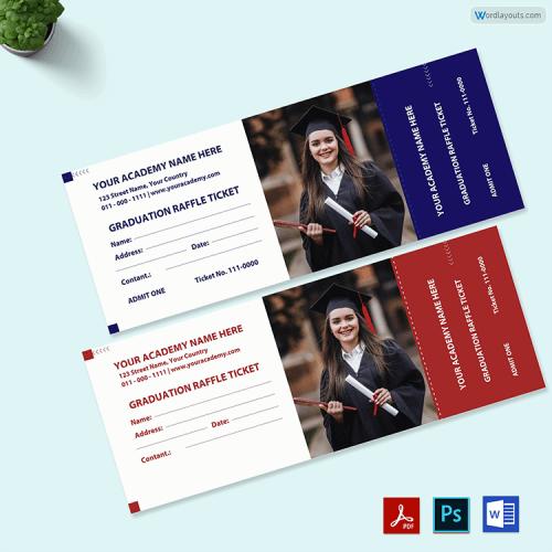 Free Graduation Diploma Raffle Ticket