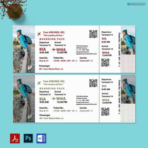 Tour Ticket Template Free
