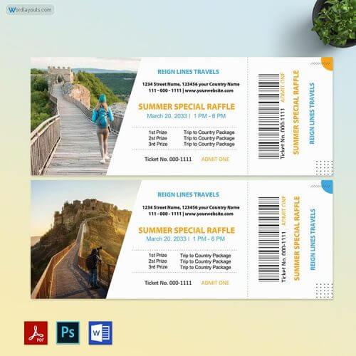 Free Raffle Ticket Template