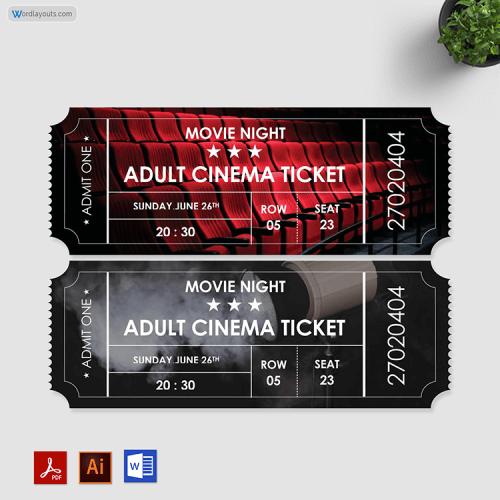 Movie Ticket Format Free