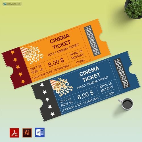 Free Editable Movie Tickets