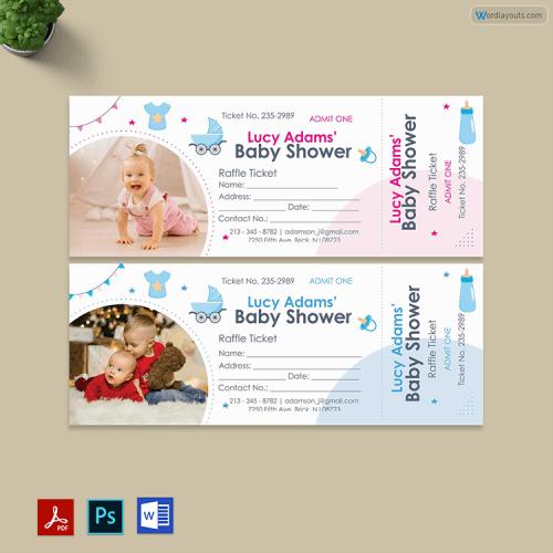 Diaper Raffle Tickets Format
