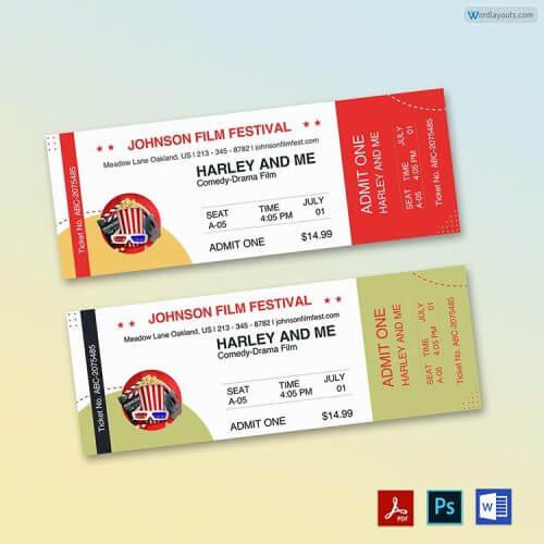 Printable Movie Ticket Free