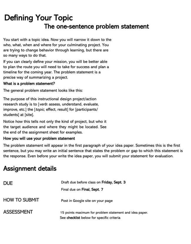 Problem Statement Template 01